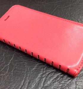 Кожаный чехол книжка для IPhone 7