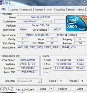 "Процессор ""Intel Xeon x5450, 3.0 г 775 сокет,1333"""
