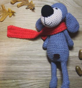 Пёсик в шарфике