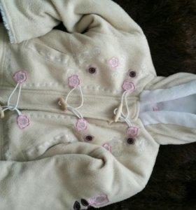 Куртка-толстовка размер 80