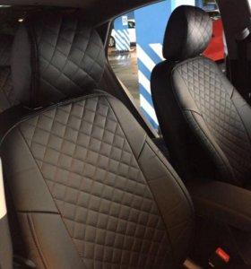 Авточехлы на Kia Rio 4, Hyundai Solaris с 2017