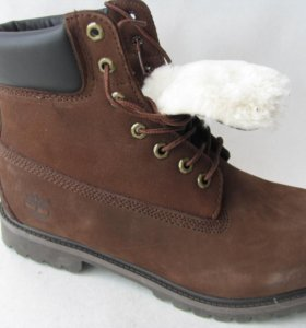 Ботинки Зимние Timberland Мех Нубук Кор.41
