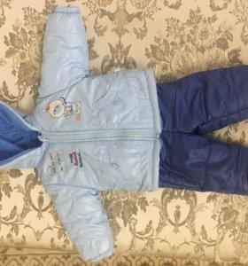Продаётся зимний костюм Bebessi 68 см на 6 месяцев