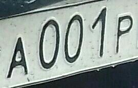 Гос номер 001