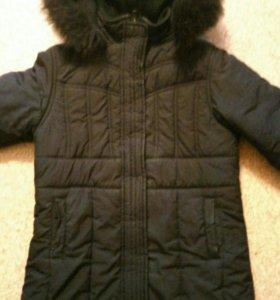 Зимнее пальто на девочку 6-7 лет
