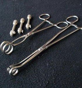 зажимы для пирсинга, держатели игл