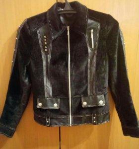 Куртка - ветровка эко-кожа/мех