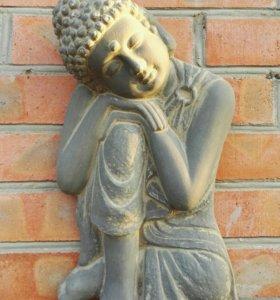 Настенное панно думающий Будда, бетон
