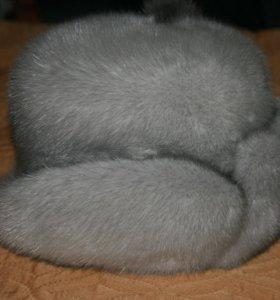 шапка норковая на корсете новая
