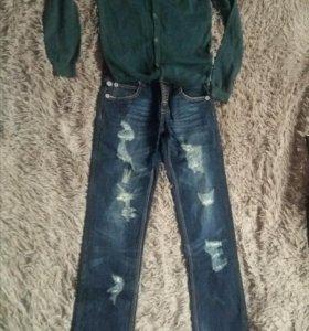 Новые джинсы муж(30р) и кофта(48)
