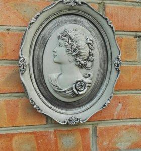 Бетонное панно Луиза, в стиле прованс