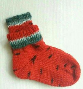 Носки вязаные Арбуз