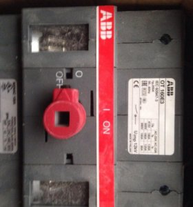 ABB Рубильник OT160E3 до 160A 3х-полюсный