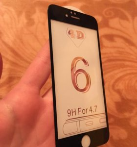 Защитное стекло на iPhone 6s и бампер