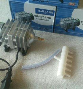 Компрессор HAILEA aco-208 для аквариумов 45л/мин