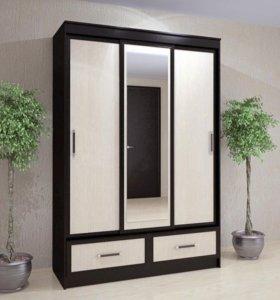 Шкаф Купе 150см, рамка,зеркало.