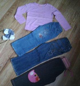 Джинсы , брюки 2-3 года