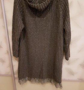 Шикарное вязаное платье с люриксом))