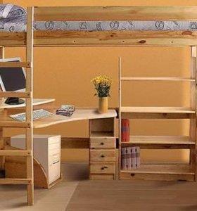 Кровать - чердак с зоной занятий