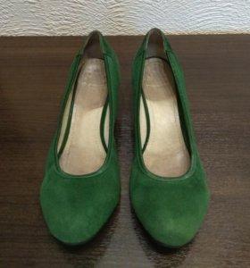 Туфли из натуральной замши (б/у)