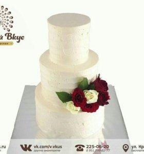 Свадебные торты на заказ.