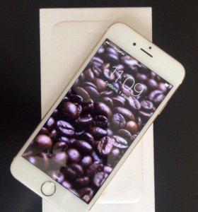 Золотой Айфон 6, 64 Гигабайт, с рабочим Отпечатком