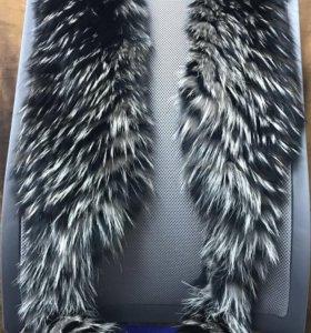 Воротник-шарф из натурального меха чернобурки