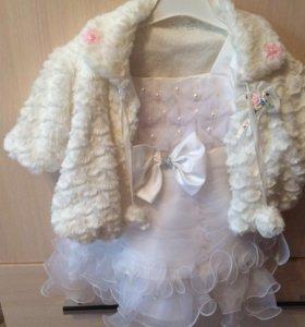 Нарядное платья для маленькой принцессы и боллеро