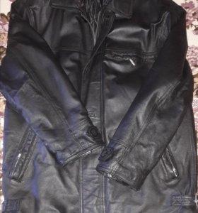 Куртка мужская кожанная. Б/у р-р 54
