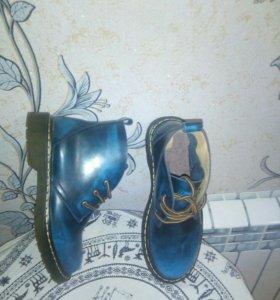 Ботинки из натуральной кожи подошва силиконовая
