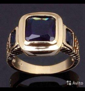 Кольцо с камнем сапфир💍