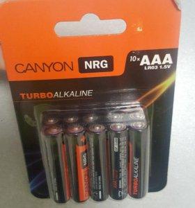 батарейки AAA (LR3) 010шт. Canyon алкалиновые