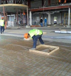 Стяжка пола Германский бетононасосом Сухая стяжка.