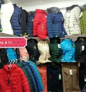 Женские куртки.Цены разные.