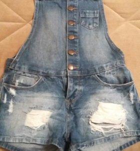 Комбез. джинсовый