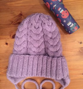 Тёплая шапочка для девочки