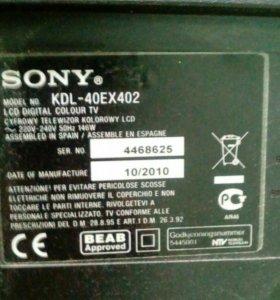 Телевизор sony bravia kpl 40 ex 402