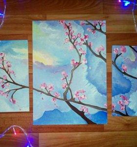 Картины-маслом, пастель, акварель.