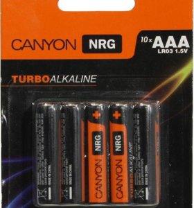 батарейки AAA (LR3) 010шт. Canyon