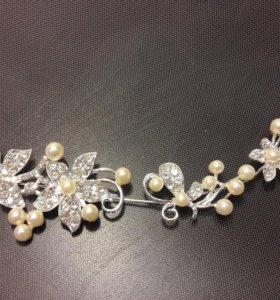 Диадема, свадебное украшение, украшение для волос