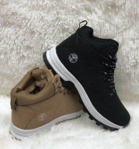 Новые ботинки. Зима. Чёрные