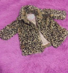 Меховое пальто для девочки