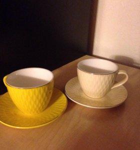 Чашка с блюдцем. Две пары.