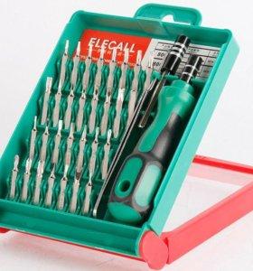 Набор отвёрток Elecall с магнитной ручкой