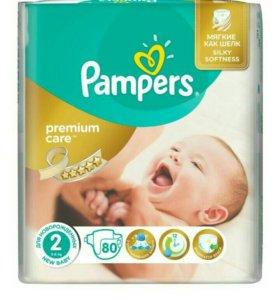 Подгузники Pampers Premium Care 2 (3-6кг) остатки