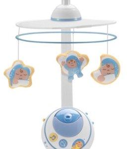 Мобиль на кроватку Chicco Волшебные звезды голубой