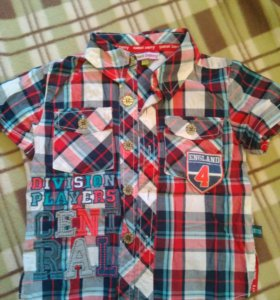 Рубашки, шорты на рост 92
