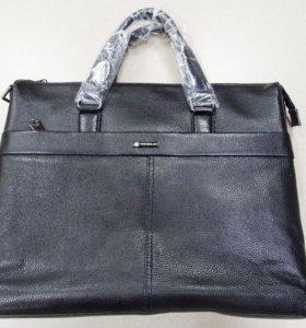 Мужская сумка из натуральной кожи Montblanc