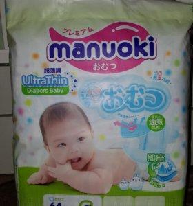 manuoki памперсы/подгузники 3-6кг