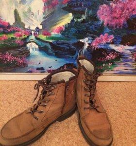 Кожанные ботинки Ecco
